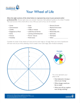 Platinum-Leadership-Coaching-Wheel-of-Life-Worksheet